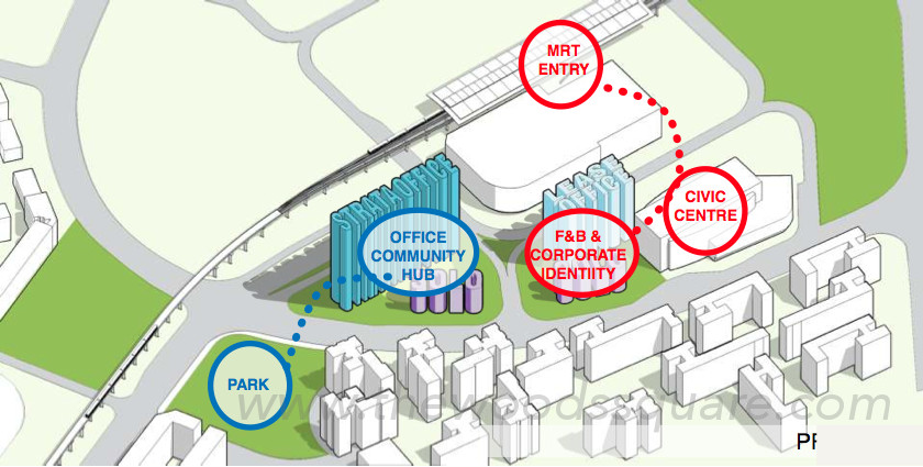 Woods Square Site Layout Zoning
